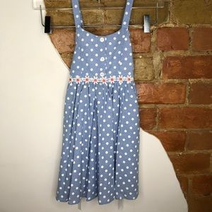 White girls poka dot dress